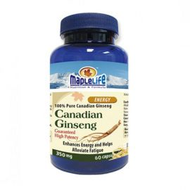 Maplelife Canadian Ginseng Capsules 350mg 60capsules