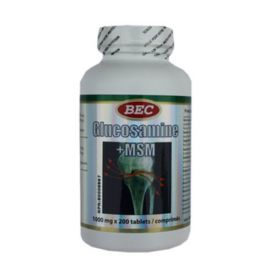 BEC Glucosamine+MSM 1000mg 200tablets