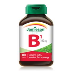Jamieson Vitamin B1 (Thiamine) 100 mg 100 tablets .
