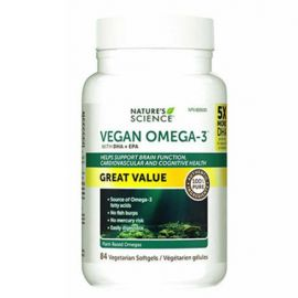 Nature's Science Vegan Omega-3, 84 Capsules