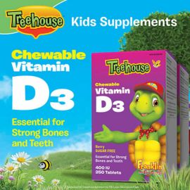 Treehouse Chewable Vitamin D3 400 IU Berry Flavour 2 x 250 tab