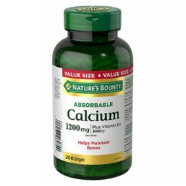 Nature's Bounty  Absorbable Calcium 1200mg  200 softgels