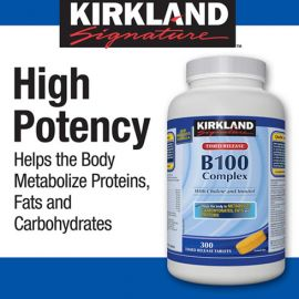 Kirkland Signature B100 Complex Tablets 300count