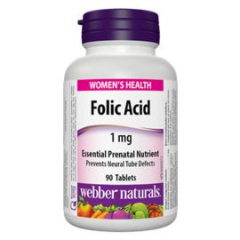 Webber Naturals Folic Acid 1 mg 90 Tablets