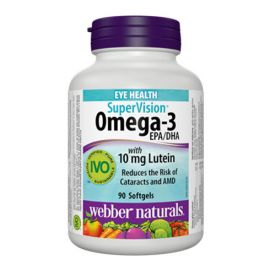 Webber Naturals SuperVision Omega-3 with 10 mg Lutein 90 Softgels