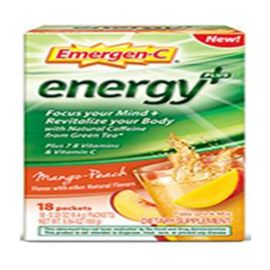 Emergen-C Energy+ Mango-Peach 18 singles/box