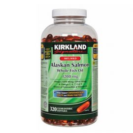 Kirkland Signature 100% wild Alaskan Salmon Oil 1200mg 320softgels