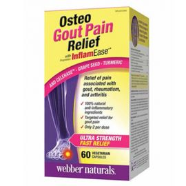 webber naturals Osteo Gout Pain Relief with InflamEase Capsules 60count