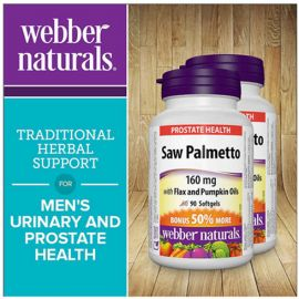 webber naturals Saw Palmetto Extract 160 mg  2 x 90 Softgels