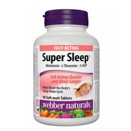 webber naturals Super Sleep Soft Melt Tablets  90count