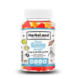Herbaland Classic Gummy for Kids: Omega-3 60 Gummies