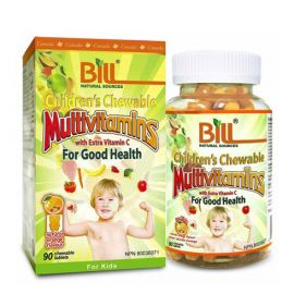 Bill Children's Chewable Multivitamins with Extra Vitamin C (Natural Orange Flavour) 90tablets