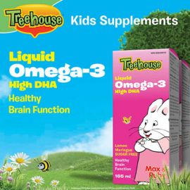 Treehouse Liquid Omega-3 High DHA Lemon Meringue Flavour 2 x 165 mL
