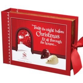 Saxon Chocolates Night Before Christmas Mouse Book 6pcs 120g