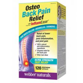 webber naturals Osteo Back Pain Relief with InflamEase Capsules 120count