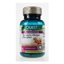 Quest for Health - Canadian Turmeric-Ginger Complex 90 veggi caps