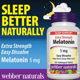 webber naturals 5mg Melatonin Extra Strength Easy Dissolve Tablets  240count