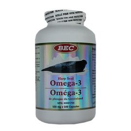 BEC Harp Seal Oil Omega-3 500mg 500capsules
