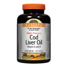 Holista High Potency Cod Liver Oil 100 Softgels