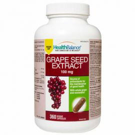 Health Balance - Grape Seed Extract 100 mg - 360 Veggie Capsules