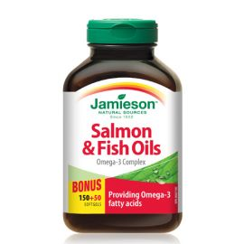 Jamieson Salmon & Fish Oil Omega-3 Complex 200softgels