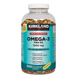 Kirkland Signature Super Concentrate Omega-3 Fish Oil 1000mg 300softgels