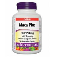 webber naturals Maca Plus with Ginseng Vegetarian Capsules 140 count