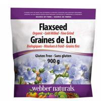 webber naturals Organic Ground Flaxseed, 900 g