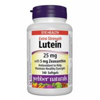 webber naturals Lutein 25 mg with Zeaxanthin 5 mg Softgels, 140-count