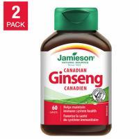 Jamieson Canadian Ginseng 250mg  2 x 60 Capsules