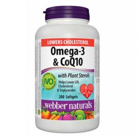 Webber Naturals Omega-3 & CoQ10 with Plant Sterols 200softgels