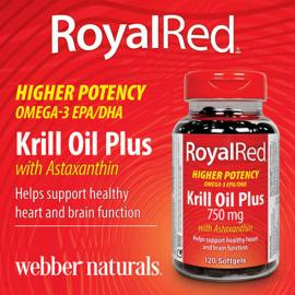 Webber Naturals Royal Red Krill Oil Plus with Astaxanthin 750mg 120 softgels