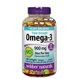Webber Naturals Triple Strength Omega-3 900mg 200 softgels