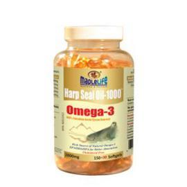 Maplelife Harp Seal Oil Omega-3 Golden 1000mg 180 softgels